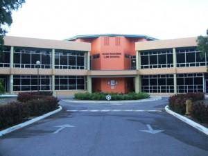 The Hugh Wooding Law School.