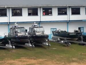 Several of the GDF Coast Guard's inshore fleet of patrol vessels.