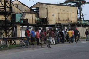 A small number of Wales Estate factory workers who refused to work Tuesday to protest the likely merger of their factory with the one at Uitvlugt, West Coast Demerara.