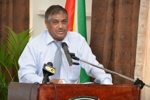 Commissioner General of the Guyana Revenue Authority, Khurshid Sattaur.