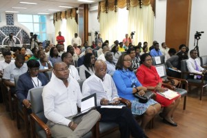 Attendees at the opening of the Training of Trainers Seminar on Guyana's Extractive Industries.