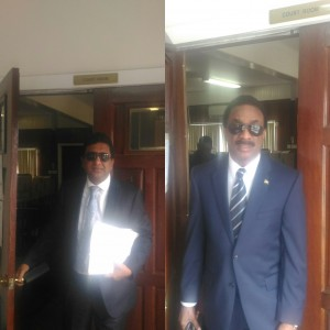 Former Attorney General Anil Nandlall and Attorney General Basil Williams
