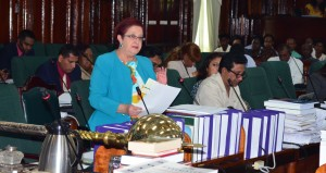 People's Progressive Party Civic (PPPC) parliamentarian and Opposition Chief Whip, Gail Teixeira.