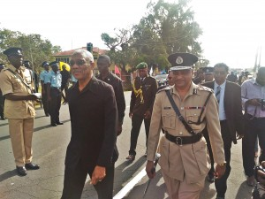 FLASH BACK: President David Granger and Police Commissioner Seelall Persaud