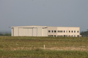 The hangar at Cheddi Jagan International Airport.