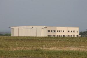 The hangar at Cheddi Jagan International Airport.