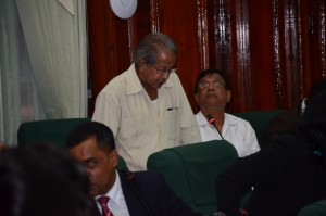 PPP pariamentarian, Komal Chand addressing the National Assembly during the debate on the 2016 Budget Debate.