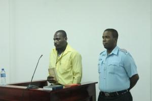 Dwayne Lewis during his testimony on Thursday