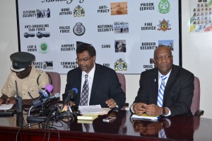 Officials at the Press Conference on Friday
