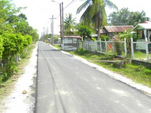The new roads in Cummings Park, 'E' Field, Sophia. Thirty streetlights were also installed in this field
