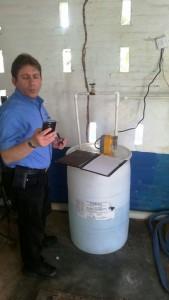 Harold Stiefel of Aqua Smart providing GWI with training on SeaQuest.