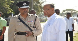 Commissioner of Police Seelall Persaud and PPP General Secretary Clement Rohee