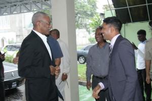 President David Granger and GPA President Neil Marks