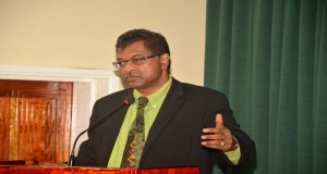 Leader of the Alliance For Change (AFC) and Minister of Public Security, Khemraj Ramjattan