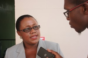 Junior Natural Resources Minister Simona Broomes