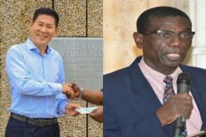 Bai Shan Lin Managing Director Chu Hongbo and GRA Chairman Rawle Lucas
