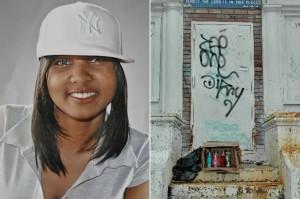 Chanel Petro-Nixon was found dead inside a garbage bag at 212 Kingston Avenue in Brooklyn ten years ago.Photo: Tamara Beckwith ; Gregory P. Mango