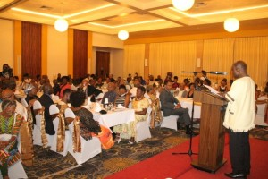 Foreign Affairs Minister, Vice President Carl Greenidge addressing the African Guyanese Awards Ceremony held on Monday, May 22, 2016 at the Pegasus Hotel.