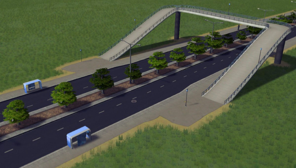 how to make overpasses in cities skylines