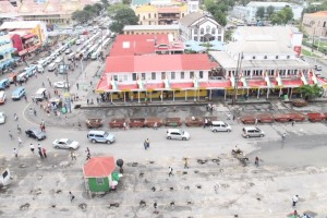 The cleared, cleaned and reorganised Demico House- Stabroek Market area.