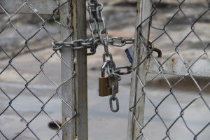 The padlocked fences