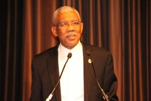 President David Granger addressing the Guyana State Dinner held in June, 2016 at the Sheraton Hotel in Manhattan, New York.