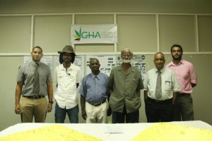 Second from right is Turhane Doerga, Head of the Guyana Hemp Association, with other executive members.