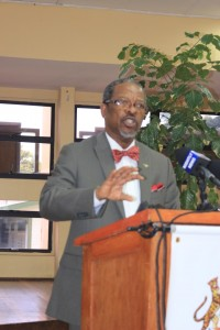 Vice Chancellor of the University of Guyana, Professor Ivelaw Griffith