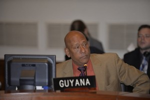Guyana's Permanent Representative to the OAS, Ambassador Bayney Karran.
