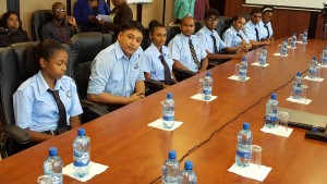 The trainee Air Traffic Controllers who will be leaving for Jamaica shortly for training.
