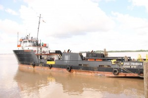 The supply and oil-spill vessel, MS Maleka owned by GAICO Construction and General Services