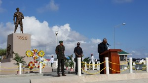 President David Granger announced that Government will erect in remembrance of the executions of more than 200 Africans, during the Demerara Revolt 1823, during his address at the Commemorative Ceremony at the Monument on Atlantic Avenue.
