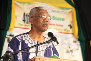President David Granger addressing the opening Cuffy250's Fourth Annual State of the African Guyanese Forum.