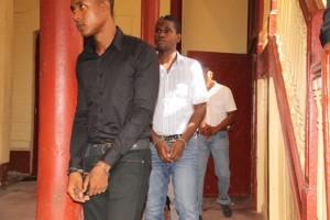 Constables Kori Arthur and Akeem Thompson