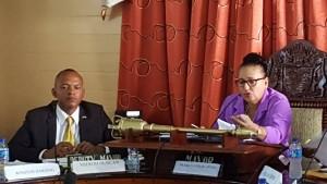 Deputy Mayor, Sherod Duncan and Mayor Patricia Chase-Green.