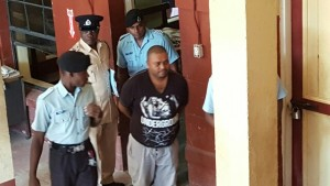 Barry Dataram at the Georgetown Magistrates' Court on Tuesday afternoon