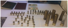 Spent and Live Ammunition found in possession of a man in Linden.