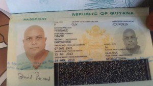 Passport found in possession of Barry Dataram in the name of David Persaud. (RD Productions photo)