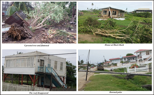 Kaieteur News photo of recent storm damage in Corentyne.