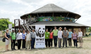 Representatives of the Guyana government, institutions amc Partners of WWF-Guianas.(Bram Kloos Photography)