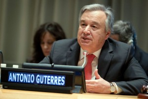 Incoming United Nations Secretary General, António Guterres.