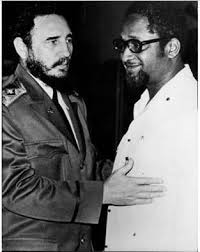 Fidel Castro and then Guyana Prime Minister, Forbes Burnham.
