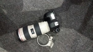 Keno George's camera that was stolen and subsequently returned by two men allegedly in exchange for GYD$50,000.