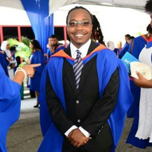 UWI Guild President, Makesi Peters.