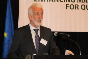 Lead Legal Expert, Bernard O'Connor addressing the opening of the conference.