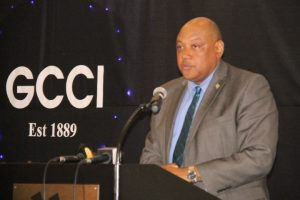 Minister of Natural Resources, Raphael Trotman attending the the Georgetown Chamber of Commerce and Industry's 2016 Dinner and Awards Ceremony.
