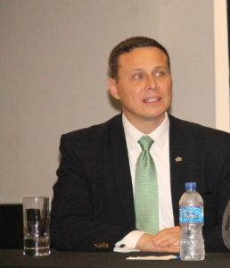 Chief of Mission of the American Embassy in Guyana, Terry Steers-Gonzalez.