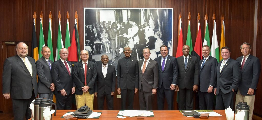 us congressmen meet granger during fact finding mission to guyana